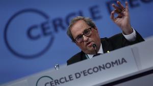Quim Torra en la reunión del Cercle d'Economia en Sitges.