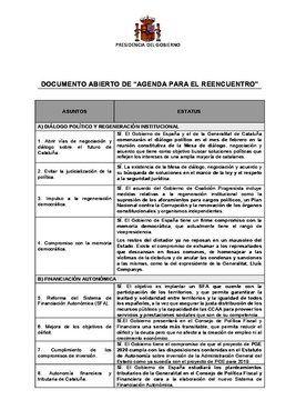 Documento de Sánchez para Torra