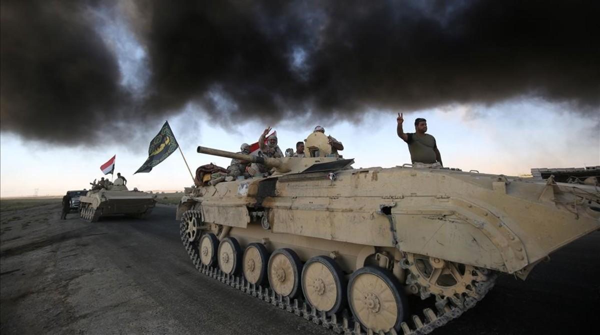 Las fuerzas iraquíes arrebatan el centro de Hawija al Estado Islámico.