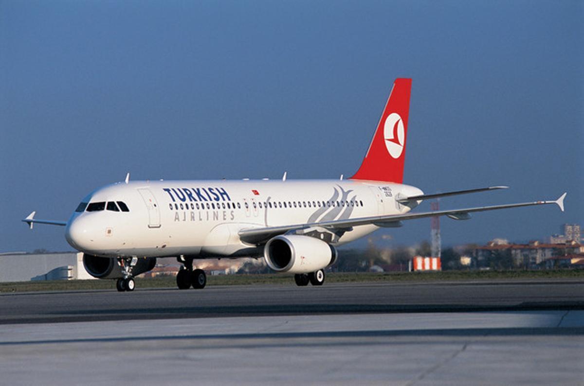 Un avión de Turkish Airlines.
