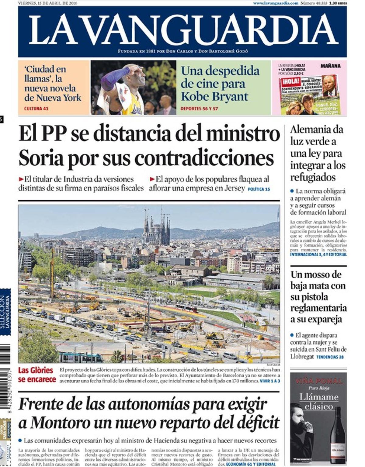 Rajoy deja caer a Soria; Marhuenda ya tiene placa de poli