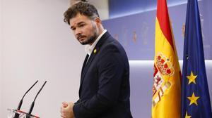 El portavoz de ERC en el Congreso, Gabriel Rufián