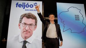 Núñez Feijóo, en un acto de campaña.