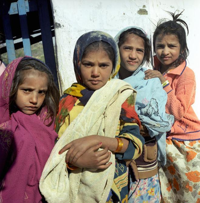 Un grupo de niñas de un orfanato de Nueva Deli.