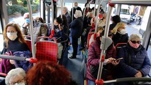 Un bus de TMB, el pasado 9 de diciembre