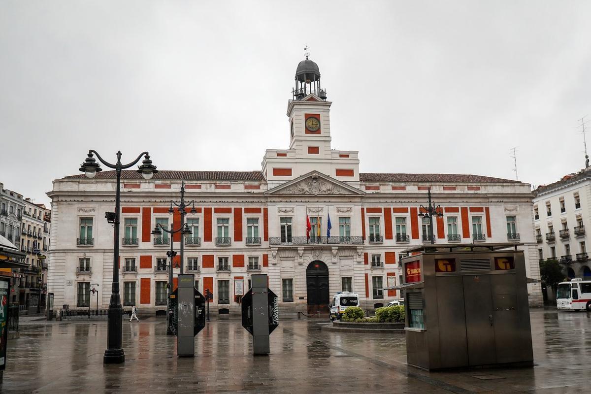 Imagen de la Puerta del Sol en época de cuarentena