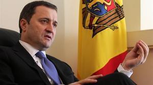El exprimer ministro Vlad Filat en una entrevista del 2012 en la embajada moldava de Bruselas.