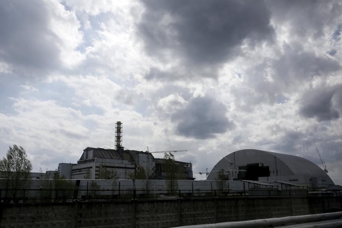 El reactor cuatro de la central nuclear de Chernóbil, este año.