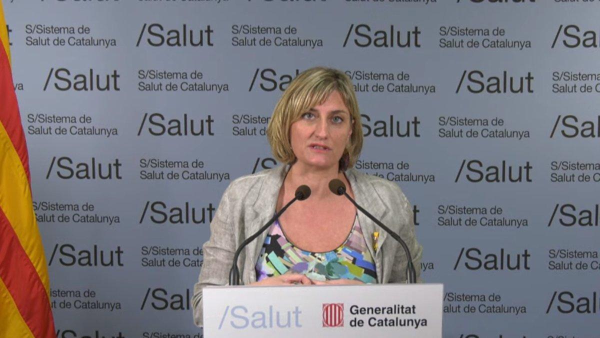 La consellera Vergés, durante la primera edición del espacio'Jo Pregunto'