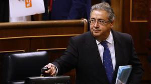 El ministro del Interior, Juan Ignacio Zoido, en el Congreso.