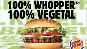 La nueva hamburguesa vegetariana Rebel Whopper de Burguer King.