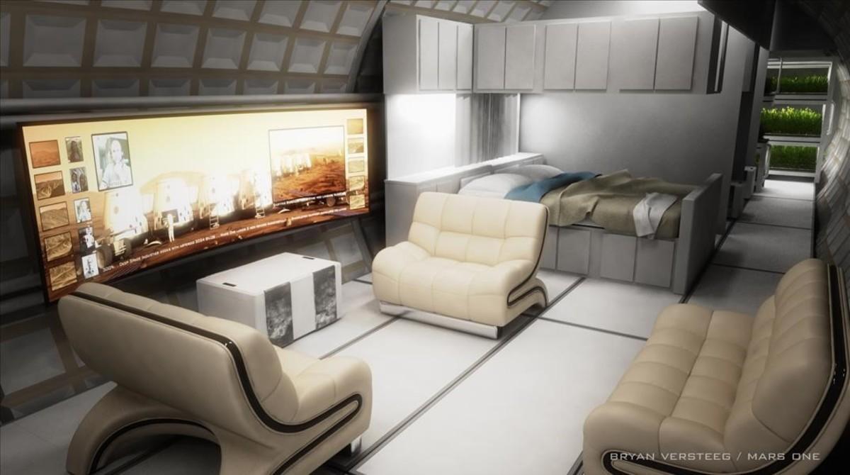 Proyecto de colonia espacial presentado por la empres holandesa Mars One.