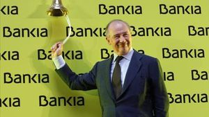 Ratoen la salida a bolsa de Bankiaen el 2011.