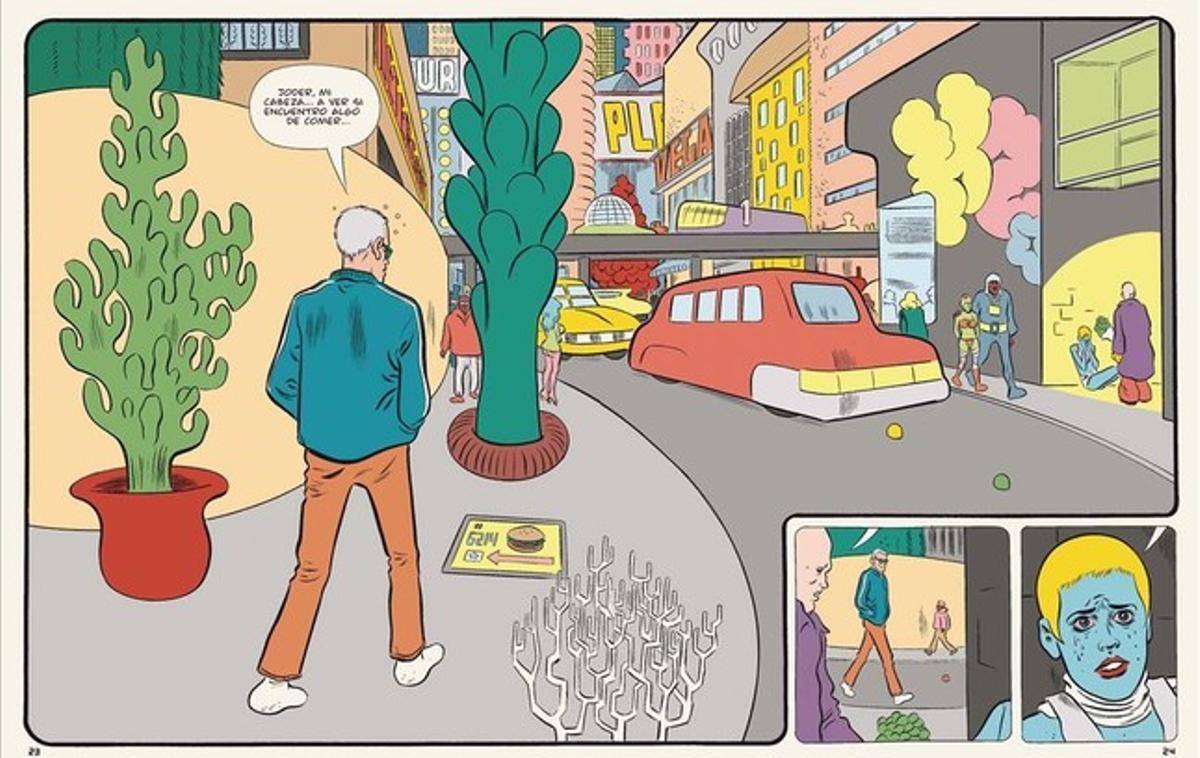 Viñeta de 'Paciencia', el nuevo cómic de Daniel Clowes.