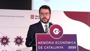 Aragonès evidencia a la Cambra el gir polític davant Torra