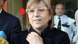 La exteniente de alcalde del Ayuntamiento de Reus Teresa Gomis, el pasado mayo, a la salida de los juzgados de la localidad, tras declarar por el 'caso Innova'.