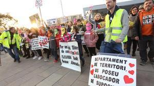 Manifestación contra la apertura del vertedero de Can Balasc en Rubí, febrero 2020