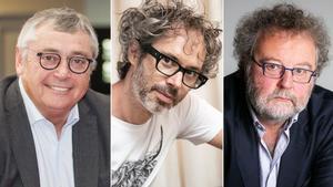 Michael Robinson, James Rhodes y John Carlin.