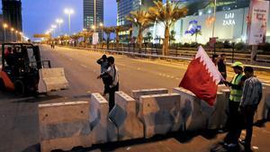 Protestas antigubernamentales en Manama (Bahrein).