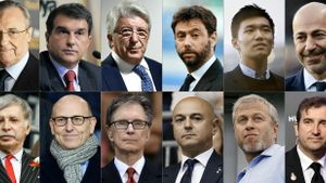 Los 12 representantes de los clubs fundadores de la nueva Superliga europea.