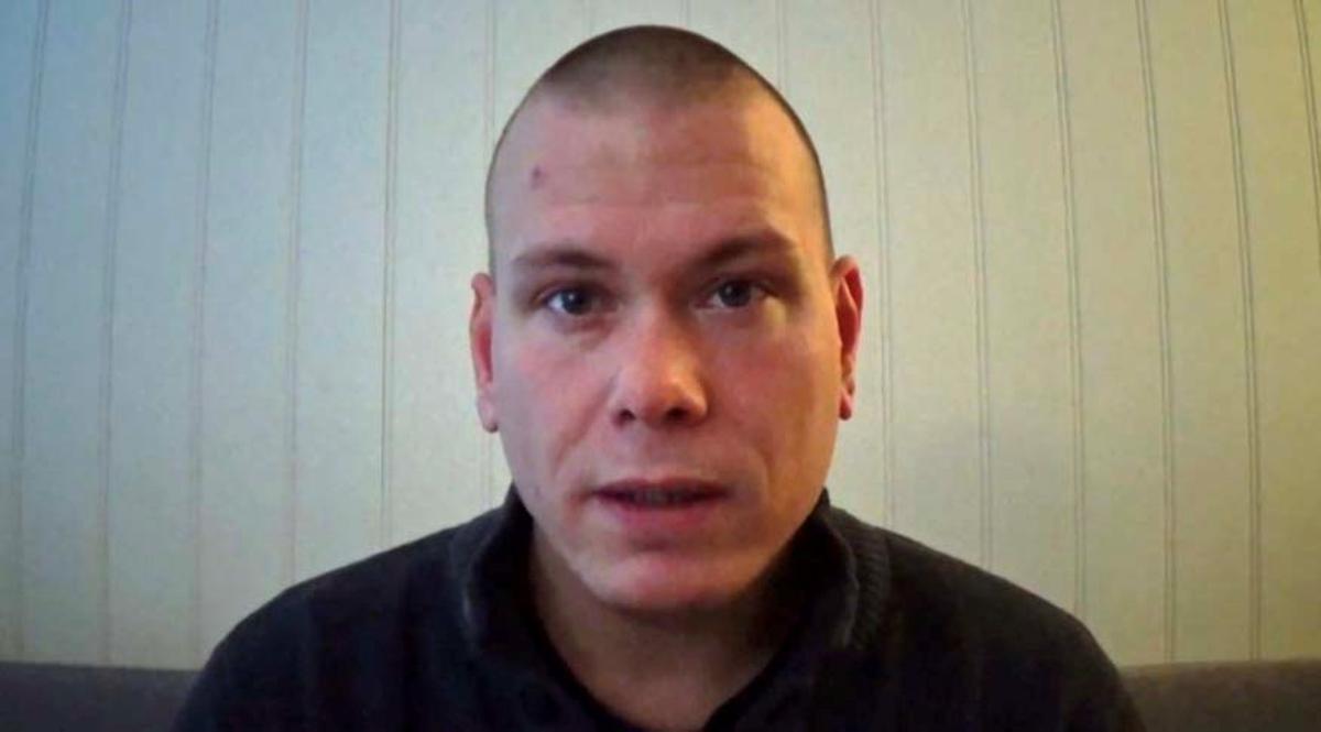 Espen Andersen Braathen, el sospechoso del ataque con arco y flechas en Noruega, en una captura de vídeo.
