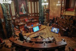 Imagen de archivo del pleno del Ayuntamiento de Barcelona, en noviembre.