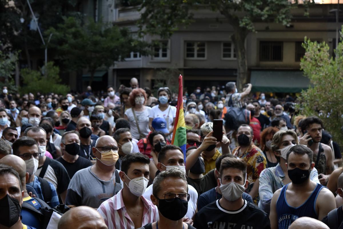 Manifestación en Barcelona por la agresión mortal a Samuel Luiz.