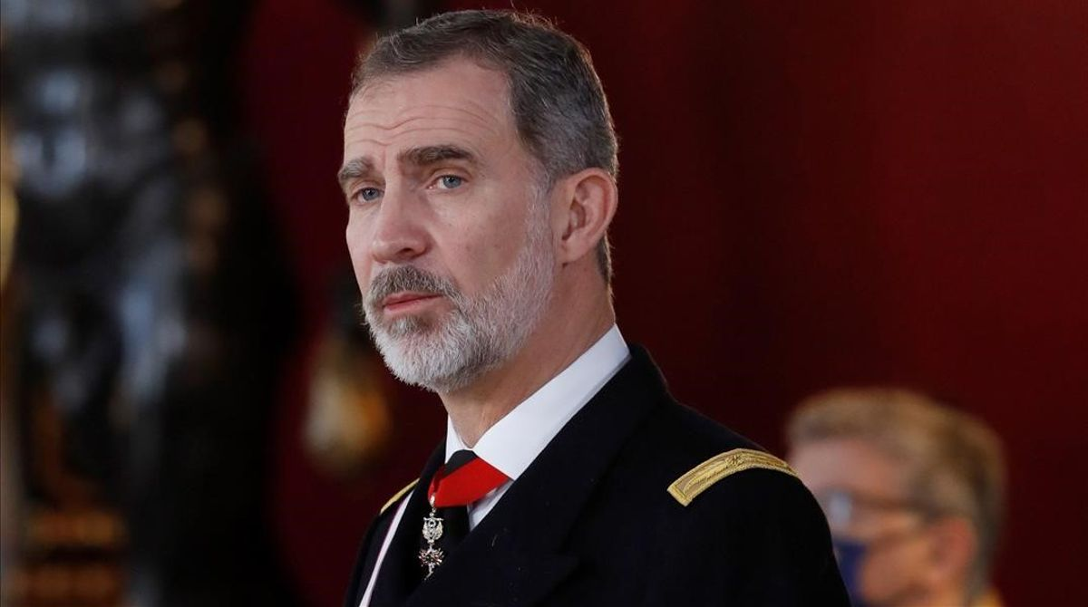El rey Felipe VIdurante su intervención en la ceremonia de la Pascua Militar.