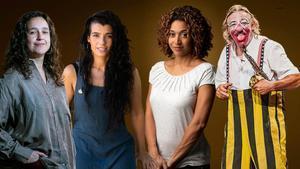 Joana Gomila; Sheila Mesas, cantante de Maruja Limón; Vicenta Ndongo y Tortell Poltrona.