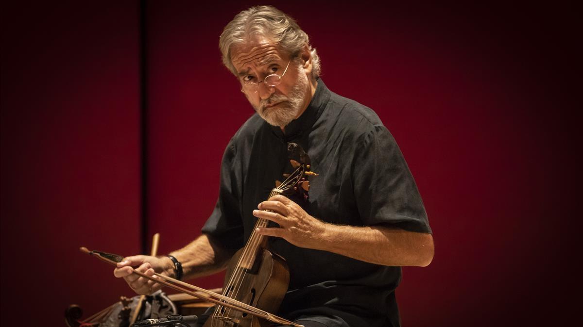 Jordi Savall, en un momento de su actuación en el Festival de Torroella el año pasado.