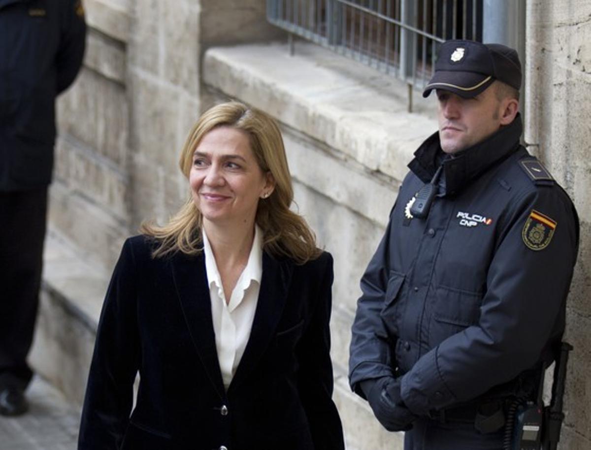 La infanta Cristina a su llegada a los juzgados de Palma, en los que declaró el 8 de febrero.