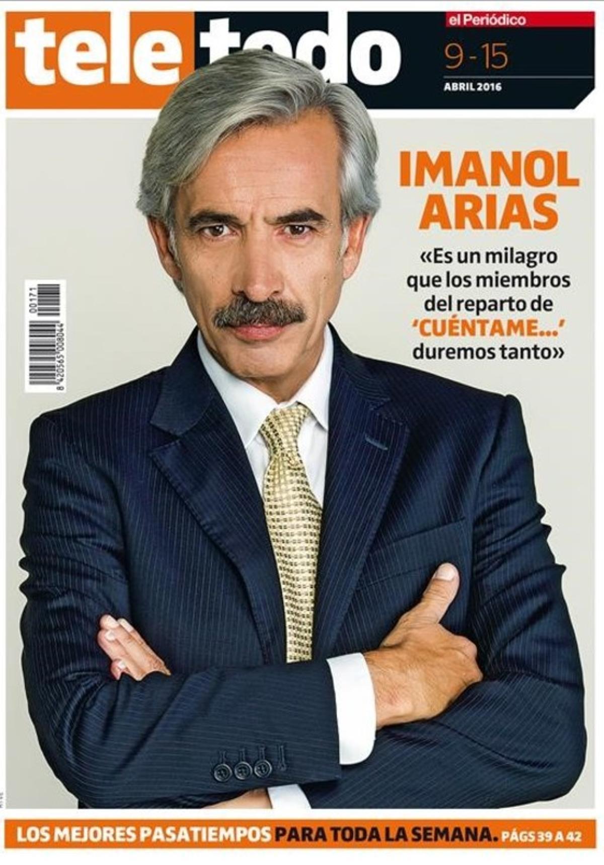 Portada del suplemento 'Teletodo' protagonizada por Imanol Arias, actor de 'Cuéntame...'.