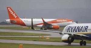 Aparatos de EasyJet y Ryanair, compañías 'low cost'.