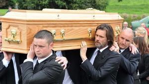 Jim Carrey, el día del funeral de Cathriona White, el 10 de octubre del 2015.
