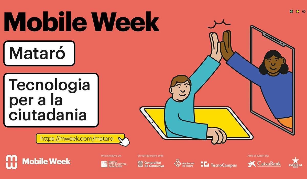 Cartel de la Mobile Week 2021 en Mataró.