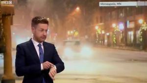 Un presentador del tiempo de la BBC se queda en shock por un contratiempo en directo