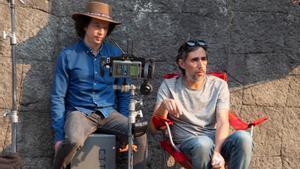 El director Michel Franco (izquierda), durante el rodaje de la película.