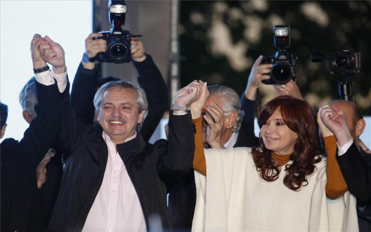 Alberto Fernández y Cristina Fernández, la fórmula peronistapara la presidencia de Argentina.