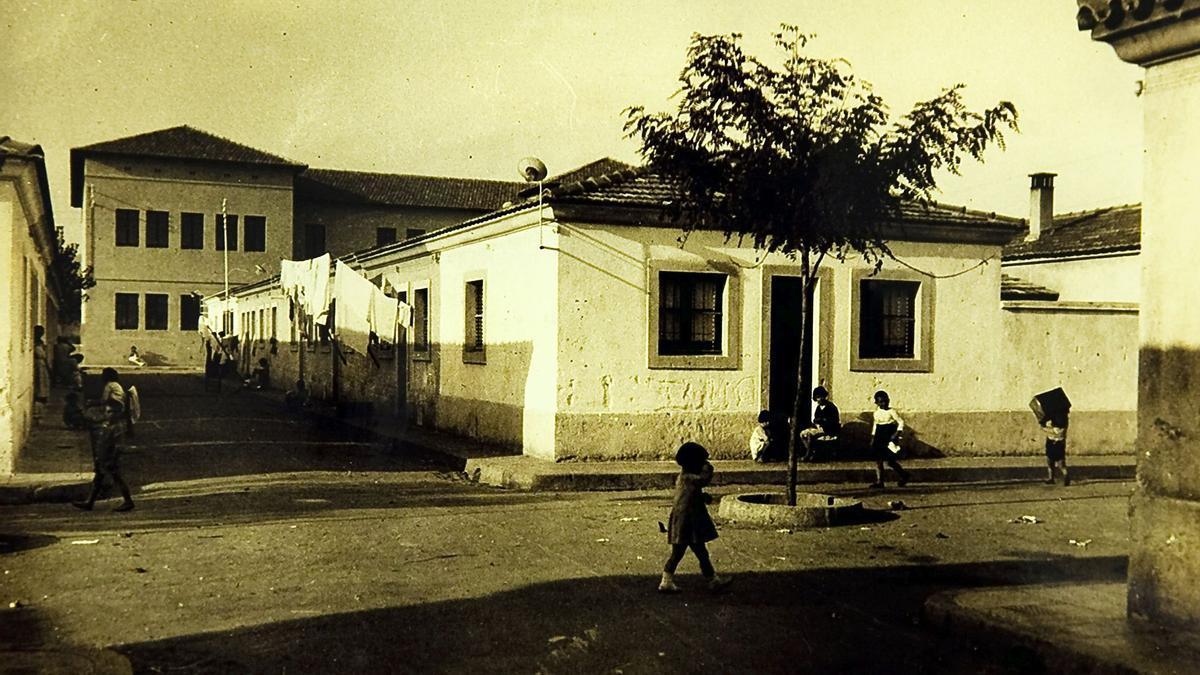 Uno de los rincones de las Cases Barates del Bon Pastor.