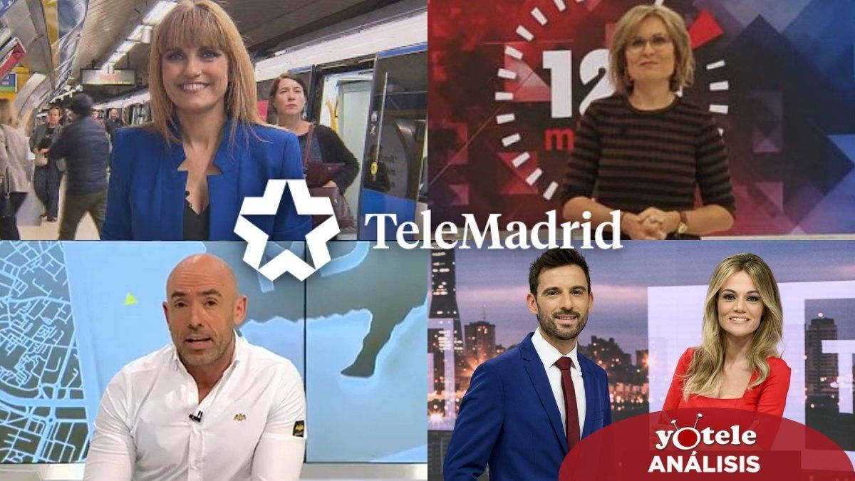 Algunos de los presentadores estrella de Telemadrid.