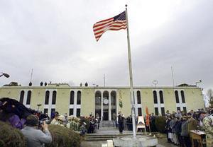 Acto en la Embajada de EEUU en Kabul.