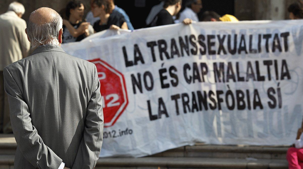 Movilización por los derechos de las personas transexuales.