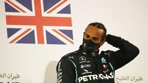 Lewis Hamilton, en Bareín.