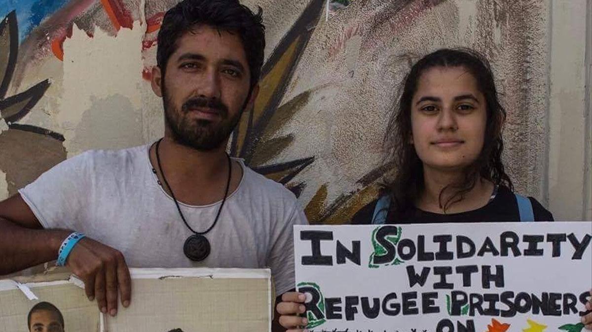 Arash Hampay en los inicios de su huelga de hambre Lleva ya mas de 33 dias sin comer.