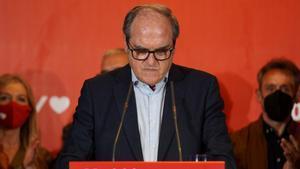 El candidato a la presidencia de la Comunidad de Madrid Ángel Gabilondo tras conocer su derrota en las elecciones del 4-M.