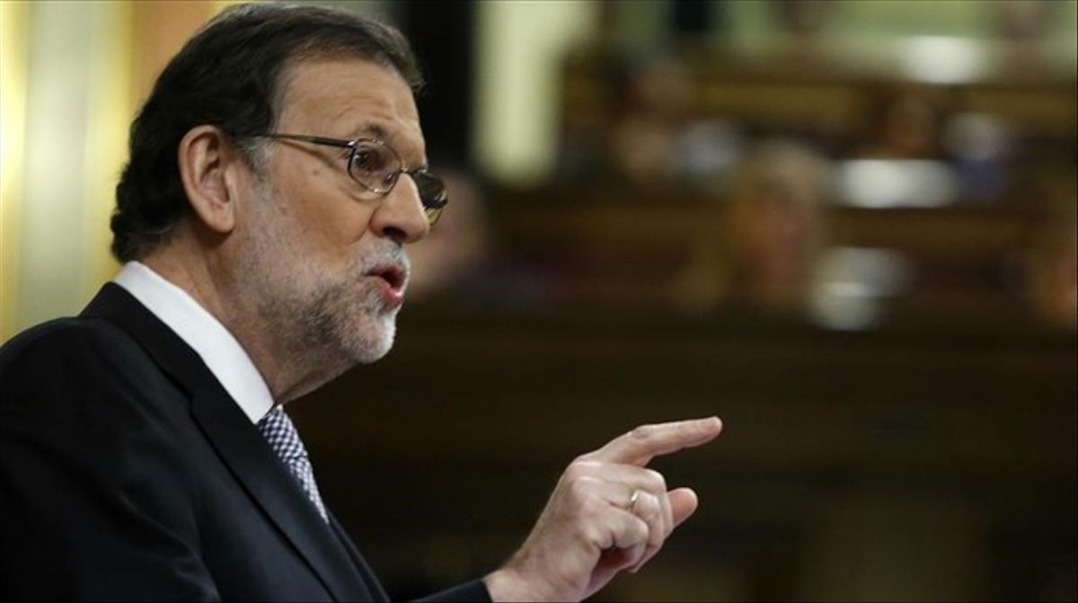 El candidato a la reelección, Mariano Rajoy, durante el debate de investidura el jueves 27 de octubre.