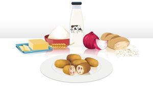 Ingredientes para preparar unas sabrosas croquetas