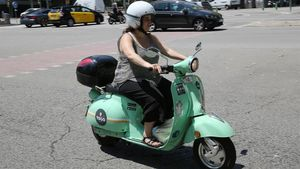 Vehículo de 'motosharing' en Barcelona.