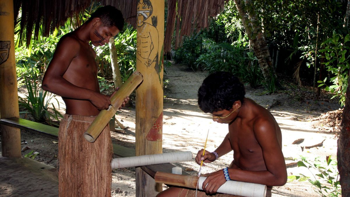 Indígenas brasileños.