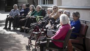 Internos de la residencia Sant Pere de les Fonts, en Terrassa. Todos están vacunados.